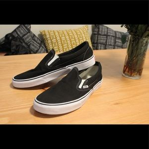 Vans Black and White Men's Slip Ons